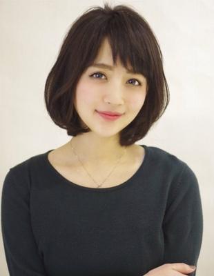 丸みが可愛いモテフォルムな大人ボブ☆(ko-74)