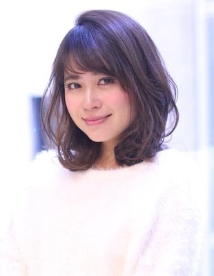 大人かわいい小顔ふわミディパーマ(WA-319)