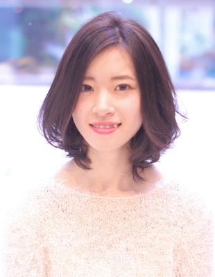 大人かわいい小顔ひし形ミディアム(WA-401)