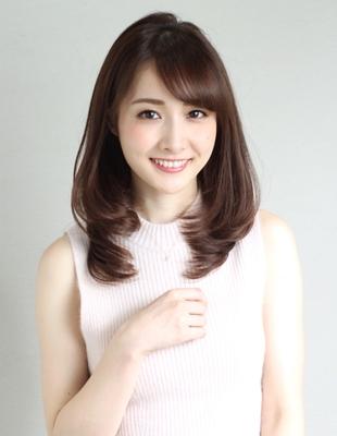 大人かわいい流し前髪ひし形ワンカール(WA-560)