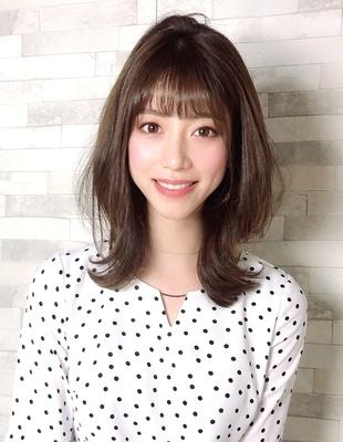 田中みな実ちゃん風くびれ巻き髪セミディ(WA-563)