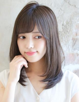 好感度UPダークトーンカラーと前髪パーマ(TK−193)