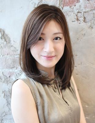 年齢問わず人気!大人な雰囲気の流し前髪(TK−217)