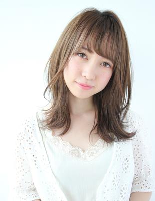 柔らかベージュカラー&前髪パーマ(TK−220)