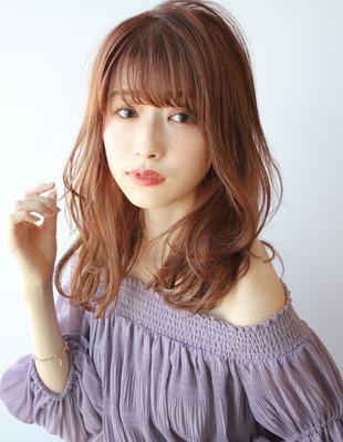 可愛いゆるふわパーマ+おしゃれオレンジブラウンカラー(TK−415)