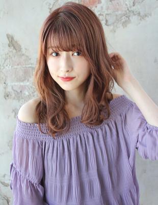 【おしゃれオレンジブラウンカラー】×【大人ゆるふわスタイル】