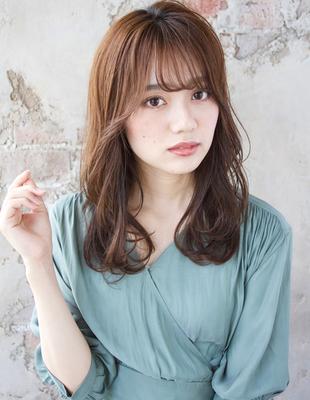 【大人な上品ゆるふわパーマ】×【艶カラー】