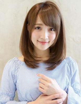 小顔効果抜群◎大人可愛いひし形レイヤー×艶カラー(TK−512)