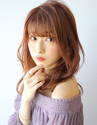 【ゆるふわデジタルパーマ】×【おしゃれオレンジブラウン】(TK−387)