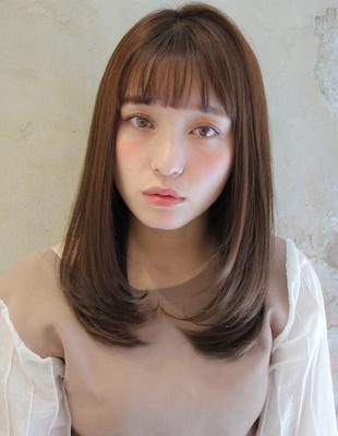 クセで広がる方◎艶髪まとまるワンカールヘア(TK−412)
