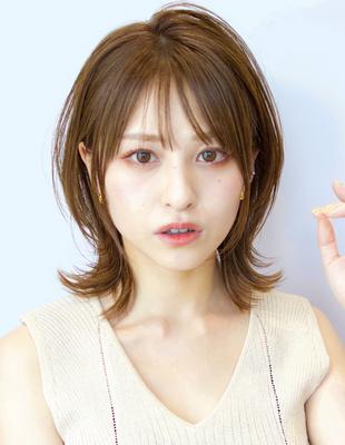 【2Way】20/30/40/50代◎きゅっと小顔効果★『くびれ&ひし形ヘア』