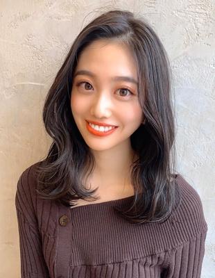 暗髪ロング 大人美人ヘア (OK-27)