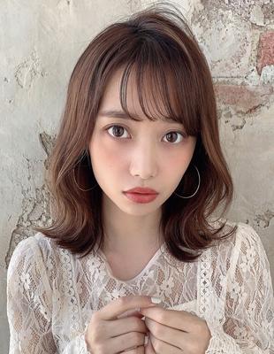 モテる髪型ふわミディアムヘア  (OK-55)