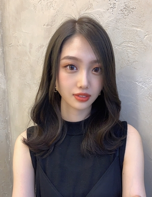 大人女子モテ髪外ハネウェーブスタイル  (OK-101)