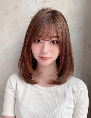 20代30代40代レイヤーモテ髪ミディアムスタイル  (OK-111)