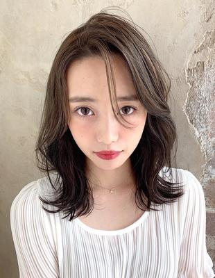 セミディで作る前髪なしかきあげ色気ヘア 新宿  (OK-127)