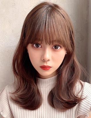 20代30代40代大人可愛い韓国風外ハネくびれヘア (OK-156)