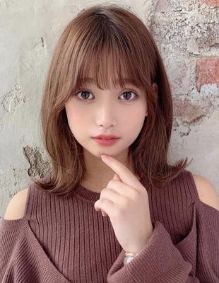 韓国アイドル風外ハネくびれヘア  (OK-160)