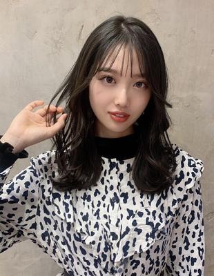 お洒落に見せる韓国風暗髪カラー (OK-163)