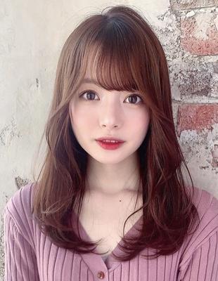 顔周り巻き愛されレイヤーモテ髪スタイル (OK-192)