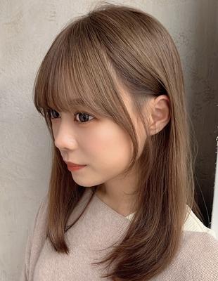 20代30代40代結んでも可愛いおくれ毛カット 新宿 大沢かおり(OK-193)