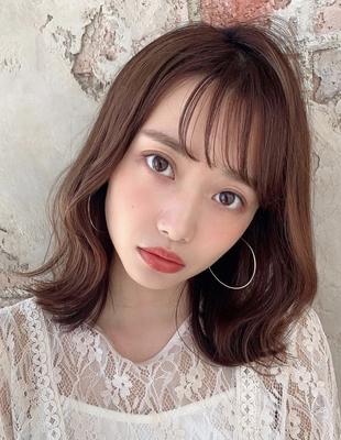 20代30代40代大人かわいいくびれ外ハネミディアムヘア 新宿 大沢かおり(OK-196)