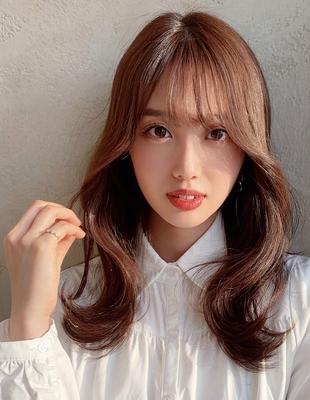 20代30代40代外ハネくびれ韓国風ヘア 新宿 大沢かおり(OK-198)