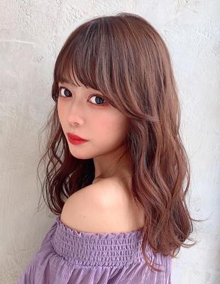 巻き髪風ふわふわ春パーマヘア 新宿美容室 大沢かおり(OK-207)