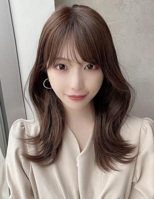 大人可愛い韓国風ヘア外ハネくびれスタイル  (OK-211)