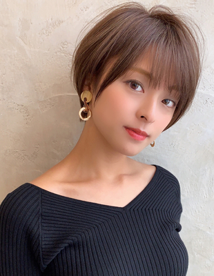 大人可愛い小顔ショート20代30代40代◎【IK50】