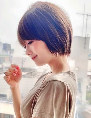 新宿 大人可愛い20代30代40代ショートボブ丸みショート◎【IK75】