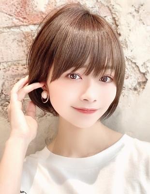 新宿 大人可愛い20代30代40代ショートボブ丸みショート◎【IK76】