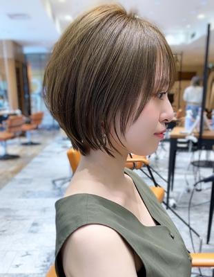 新宿 可愛い20代30代40代小顔ショートボブ丸みショート◎【IK78】