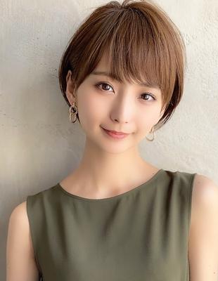 新宿 可愛い20代30代40代小顔ショートボブ丸みショート◎【IK80】