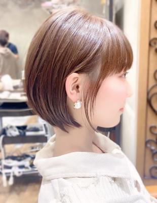 新宿 可愛い20代30代40代小顔ショートボブ丸みショート◎【IK83】
