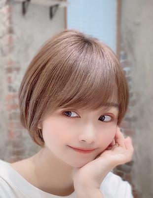新宿アフロート 20代30代40代50代 大人可愛い丸みショートボブ◎ 春カラー【IK129】