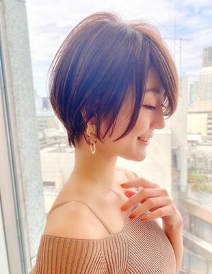 新宿アフロート 20代30代40代50代 大人可愛い丸みショートボブ◎ 春カラー【IK136】大人可愛い