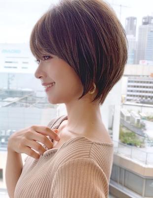 新宿アフロート 20代30代40代50代 大人可愛い丸みショートボブ◎ 春カラー【IK140】大人可愛い