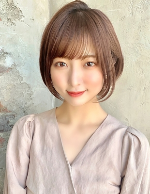 【当日予約OK】新宿アフロート 30代40代50代 大人可愛い丸みショートボブ◎ 【IK178】