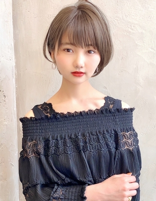 【当日予約OK】新宿アフロート 大人可愛い丸みショートボブ◎ 【IK190】