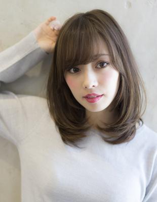 小顔になる前髪の内巻きヘア(SE214)