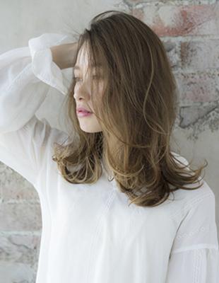 小顔になる長め前髪(se223)