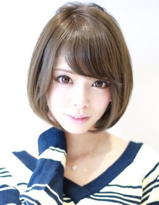 小顔になる前髪ありのショートボブ(Ss-331)