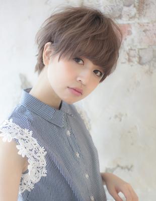 フレンチカラーと小顔ショート☆(YJ-116)