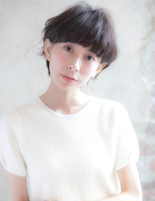 ふわっとパーマに小顔ショート☆(YJ-118)