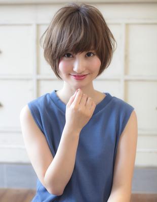 フレンチカラーと小顔ショート☆(YJ-124)
