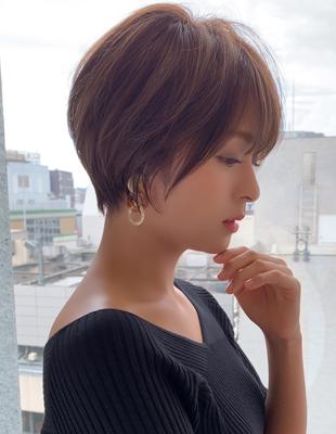 大人かわいい 小顔 ひし形ショートボブ (NB-119)