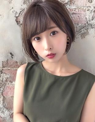 大人かわいい 小顔 ひし形ショートボブ  (NB125)