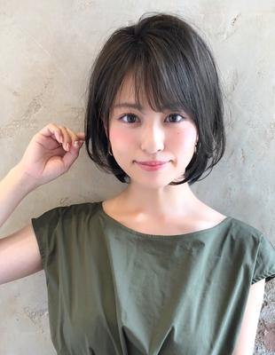 ひし形 カーキアッシュ ショートボブ(NB-132)