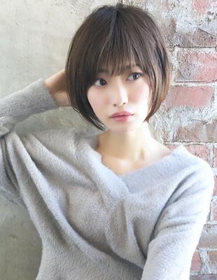 小顔ひし形ショートボブスタイル(NB-137)